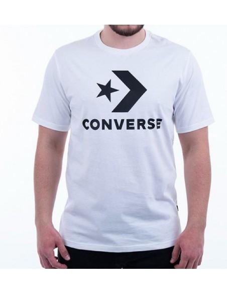 CONVERSE STAR CHEVRON TEE BIANCO