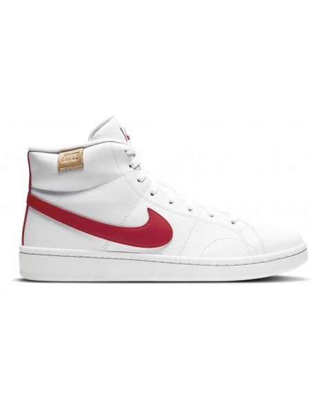 NIKE COURT ROYALE 2 MID BIANCO ROSSO